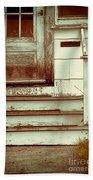 Old Wooden Porch Bath Towel