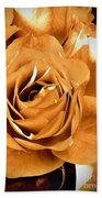 Old World Roses  Bath Towel