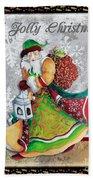 Old World Santa Clause Christmas Art Original Painting By Megan Duncanson Bath Towel