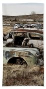 Old Wrecks Bath Towel