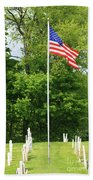 Old Yard Cemetery In Stowe Vermont Bath Towel