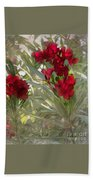 Oleander Blooms - A Touch Of Red Bath Towel