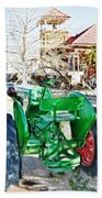 Oliver 60 Tractor In Dell Bath Towel