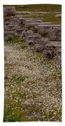 Olympia Ruins And Wild Flowers   #9678 Bath Towel