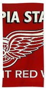 Olympia Stadium - Detroit Red Wings Sign Bath Towel