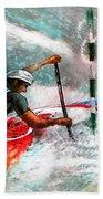 Olympics Canoe Slalom 02 Bath Towel