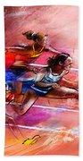 Olympics Heptathlon Hurdles 01 Bath Towel