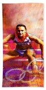 Olympics Heptathlon Hurdles 02 Bath Towel