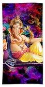 Om Shanti Ganesh Hand Towel
