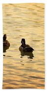 On Golden Pond Ducks Bath Towel