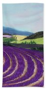 On Lavender Trail Bath Towel