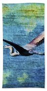 On The Wings Of Blue Bath Towel