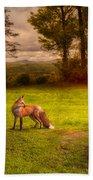 One Red Fox Bath Towel