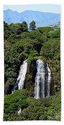 Opaekaa Falls In Kauai Bath Towel