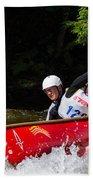 Open Canoe Whitewater Race - Panorama Bath Towel
