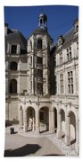 Open Staircase Chateau Chambord - France Bath Towel