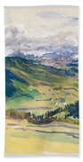 Open Valley. Dolomites Bath Towel