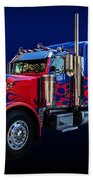 Optimus Prime Blue Bath Towel