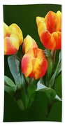 Orange And Yellow Tulips Bath Towel