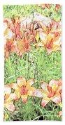 Orange Asiatic Lilies Bath Towel