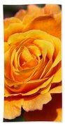 Orange Bloom Bath Towel