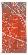 Orange Branches Bath Towel
