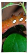 Orange Caterpillar Bath Towel