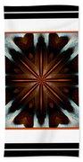 Orange Chocolate Trio - Kaleidoscope - Triptych Bath Towel