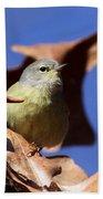 Orange-crowned Warbler - Feather Lite Bath Towel