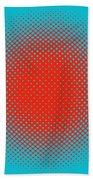 Optical Illusion - Orange On Aqua Bath Towel
