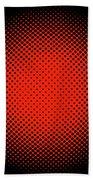 Optical Illusion - Orange On Black Bath Towel