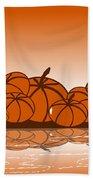 Orange Harvest Bath Towel