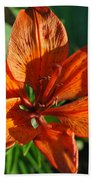 Orange Lilly Bath Towel