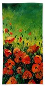 Orange Poppies  Bath Towel