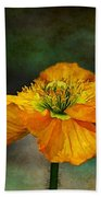 Orange Poppy Bath Towel