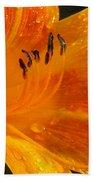 Orange Rain Bath Towel