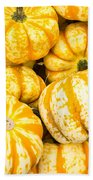Orange Winter Squash On Display Bath Towel