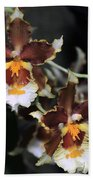 Orchid Brown Yellow White Macro Bath Towel
