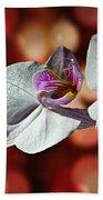 Orchid Flower Photographic Art Bath Towel