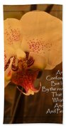 Orchid With Verse Bath Towel