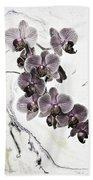 Orchids And Suminagashi Bath Towel