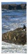 Oregon Coast Fishermen Bath Towel