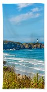 Oregon Coast Lighthouse Bath Towel