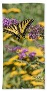 Oregon Swallowtail In The Garden  Bath Towel
