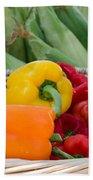 Organic Sweet Bell Peppers Bath Towel
