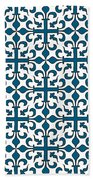 Orient Blue And White Interlude Bath Towel