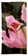 Oriental Lily Beauty Bath Towel