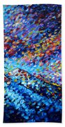 Original Abstract Impressionist Landscape Contemporary Art By Madart Mountain Glory Bath Towel