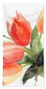 Original Tulips Flowers Bath Towel