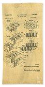 Original Us Patent For Lego Bath Towel